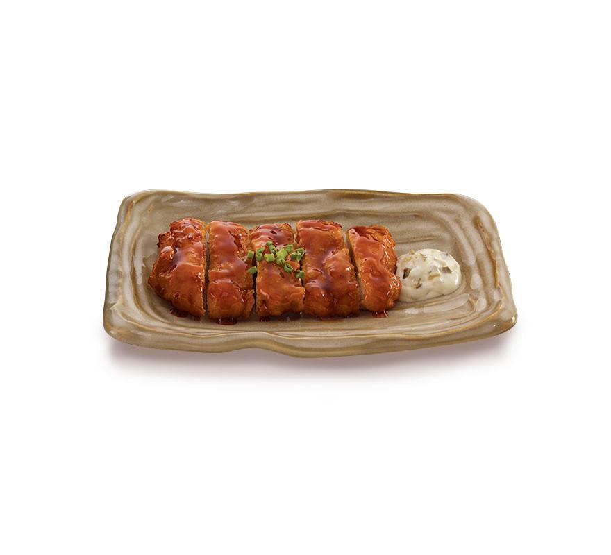 ไก่ทอดราดซอสนัมบัง (อาหารจานเดียว)
