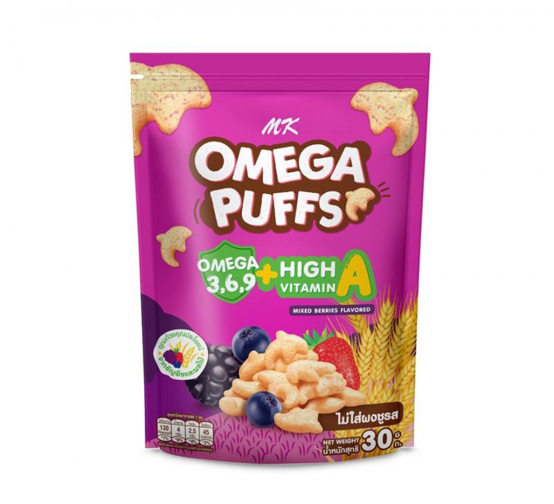 MK Omega Puffs มิกซ์เบอร์รี่ 1 ซอง