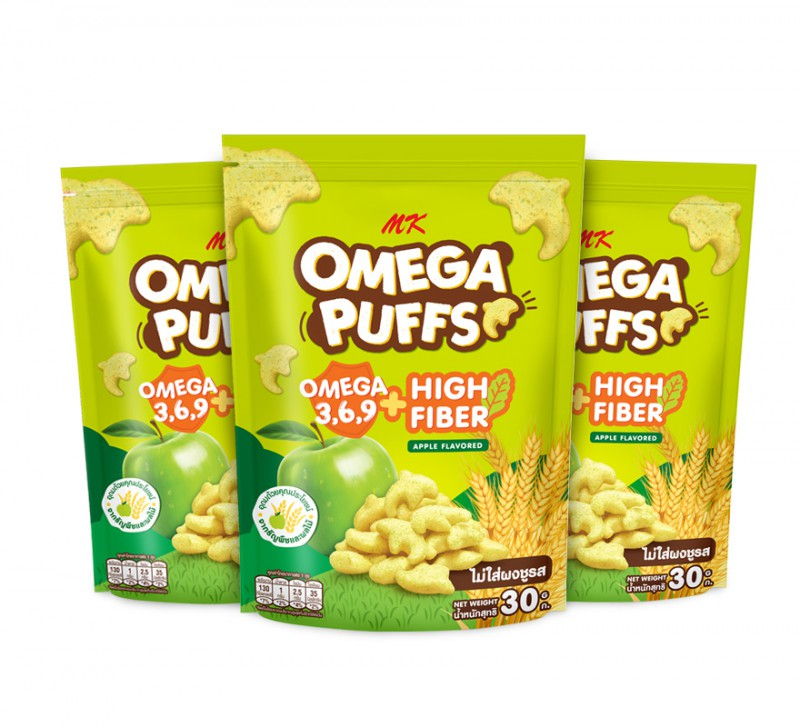 MK Omega Puffs แอปเปิ้ล 3 ซอง