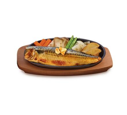 สเต็กปลาซาบะกระทะร้อน(อาหารจานเดียว)