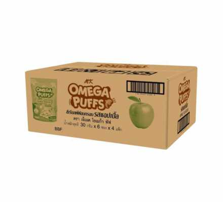 MK Omega Puffs แอปเปิ้ล 1 ลัง
