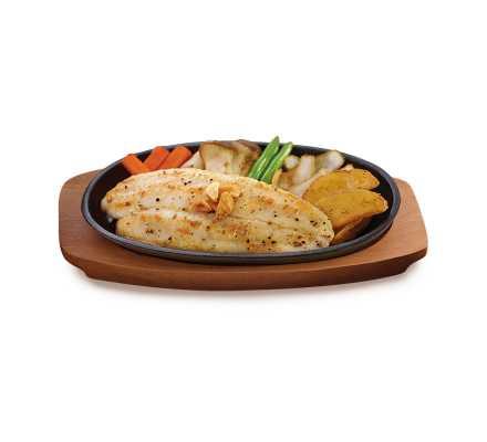 สเต๊กปลาแพนกาเซียส ดอร์รี่ (อาหารจานเดียว)