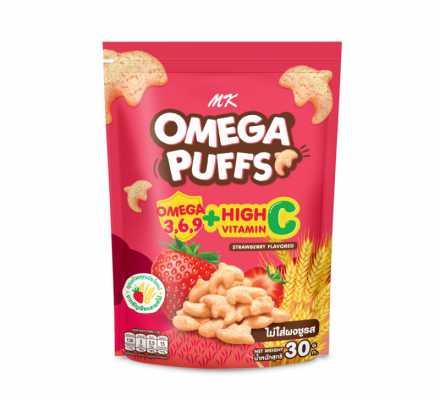 MK Omega Puffs สตรอเบอร์รี่ 1 ซอง