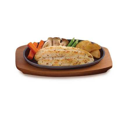 ปลาแพนกาเซียส ดอร์รี่ ย่างเกลือ (อาหารจานเดียว)