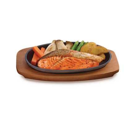 ปลาแซลม่อนย่างซีอิ๊ว(อาหารจานเดียว)