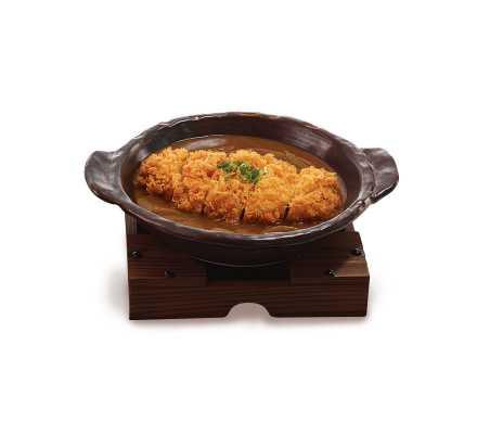 หมูชุบแป้งทอดราดซอสมิโสะ(อาหารจานเดียว)